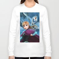 olaf Long Sleeve T-shirts featuring Anna & Olaf  by Niniel