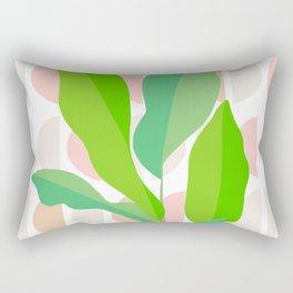 Sunny Banana leaves on Mid Century Modern pattern Rectangular Pillow