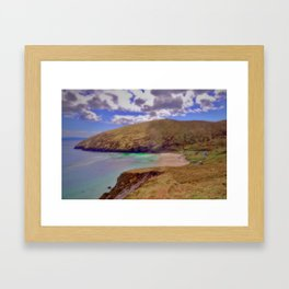 Magical Keem Beach Crowned by clouds from Heaven Framed Art Print