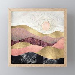 Blush Sun Framed Mini Art Print