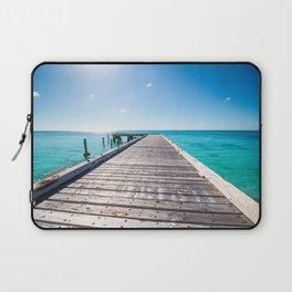 Turks and Caicos beach pier Laptop Sleeve