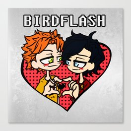Wally West heart Dick Grayson Canvas Print