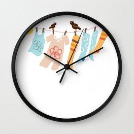 Clothes Line Wall Clock