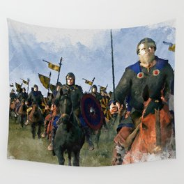 Medieval Army in Battle Wall Tapestry