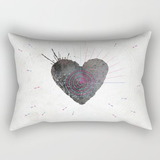 your heart is my target Rectangular Pillow