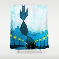 prague Shower Curtains featuring prague by Darthdaloon