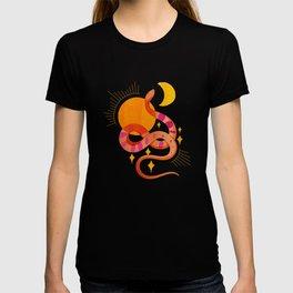 Abstraction_SUN_MOON_SNAKE_Minimalism_001 T-shirt