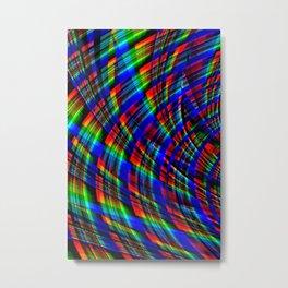 RGB Plaid Metal Print