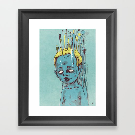 The Blue Boy with Golden Hair Framed Art Print