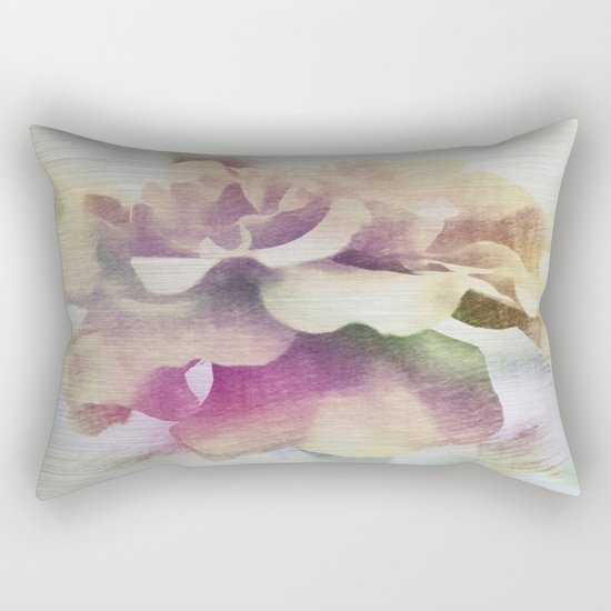 Moonlit Floral Abstract Rectangular Pillow