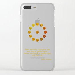 Yellow Pigments Clear iPhone Case
