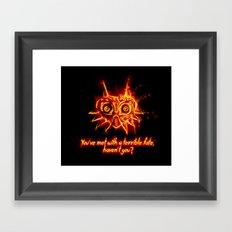 Majora's Mask Fire Framed Art Print