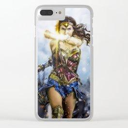 W Woman Rafart Clear iPhone Case