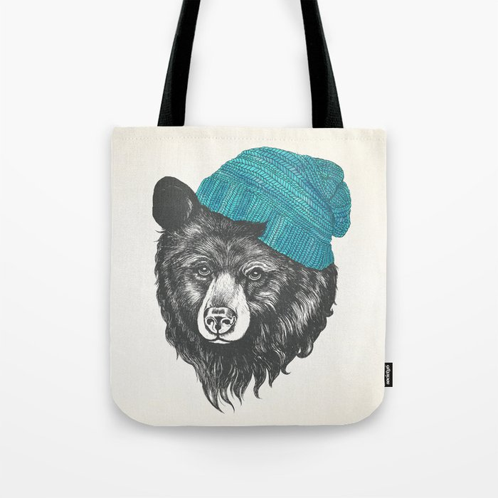 Zissou the bear in blue Tote Bag