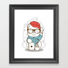 Hipster Kitty Framed Art Print