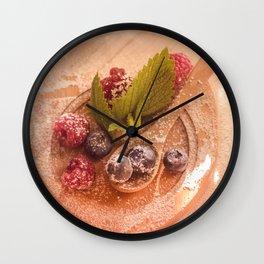 Fresh wild Bernies  Fruits Still life Wall Clock