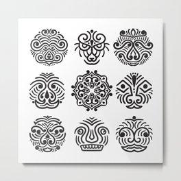 Tribal Faces Metal Print