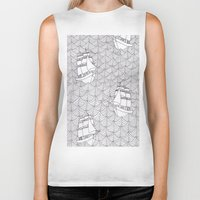 ships Biker Tanks featuring Ships by hellotomato