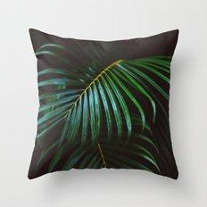 Tropical Palm Leaf Throw Pillow