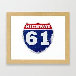 Highway 61 Framed Art Print