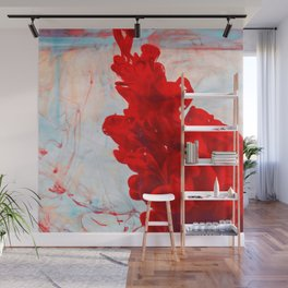 Red Ink Flow, What Does Your Subconscious Mind See? Wall Mural
