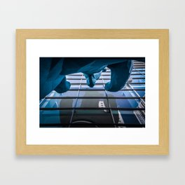 Denver Blue Bear Framed Art Print