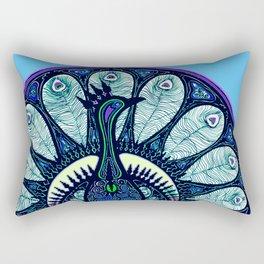 Proud Blue Rectangular Pillow
