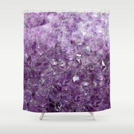 Amethyst Sparks Shower Curtain