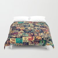 movies Duvet Covers featuring I Like Movies by ezop