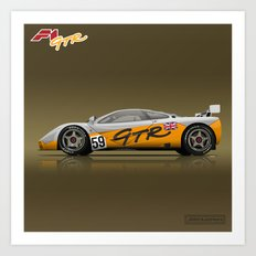 1995 McLaren F1 GTR #01R Prototype #59 Art Print