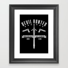 Devil Hunter Framed Art Print