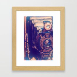 Preserving the Past a digital photograph of a vintage folding camera Framed Art Print
