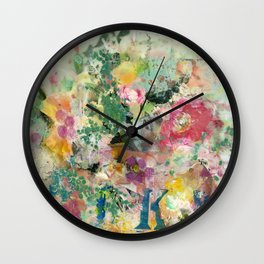 Bright Blossoms Wall Clock