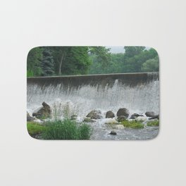 Spillway In The Mist Bath Mat
