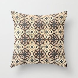 Floor Series: Peranakan Tiles 7 Throw Pillow