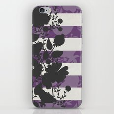 FLORAL IN VIOLET iPhone & iPod Skin