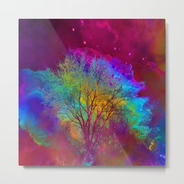 Falling into Space Metal Print