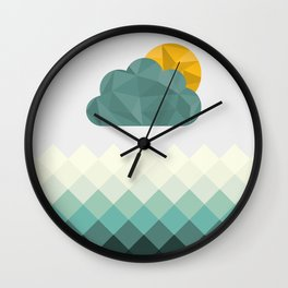 Sea Polygons Wall Clock