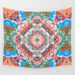 Textured Abstract Tile Pattern Wall Tapestry