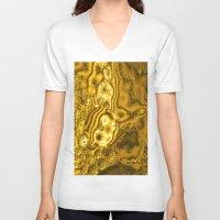 saturn V-neck T-shirts featuring Saturn by Brian Raggatt