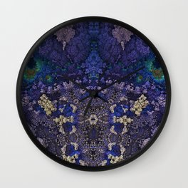 Destroyer Blue Gold Wall Clock