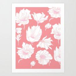 Bloomin' Pink Art Print