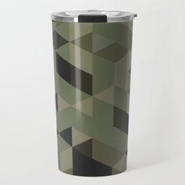 Isometric Camo Travel Mug