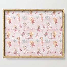 Ballerinas, Unicorns and Cats pattern Serving Tray