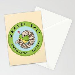 Weasel Ball Appreciation Society Stationery Cards
