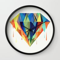 diamond Wall Clocks featuring Diamond by By Nordic