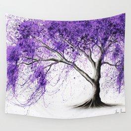 Purple Tree Wall Tapestry