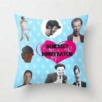 benedict Throw Pillows featuring Benedict DorkyBatch by Paris Noonan