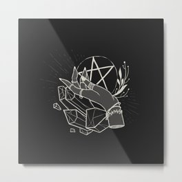 Witchy things - black Metal Print