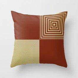 Colour Pop Squares - Green & Brown Throw Pillow